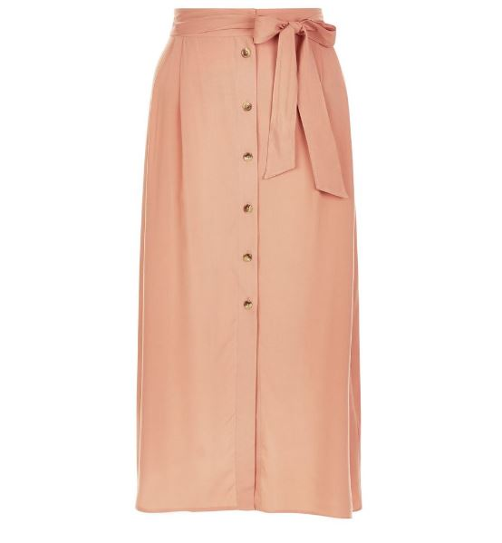 Peach Midi Skirt in Summer New Look Sale