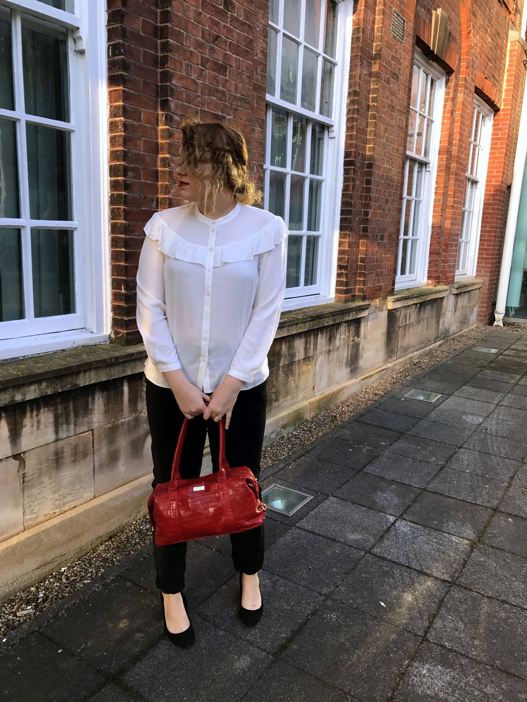 frill, frill shirt, Violet Glenton